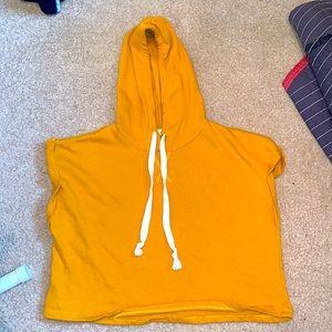 Yellow hooded crop top